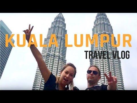 KUALA LUMPUR - BATU CAVES, MONKEYS, and PETRONAS TOWERS - Travel Vlog 🐵