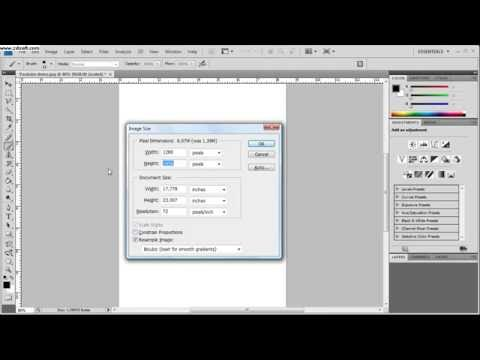 How to resize a Photoshop Document.