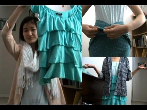 Turn shirts into skirts-no sew!