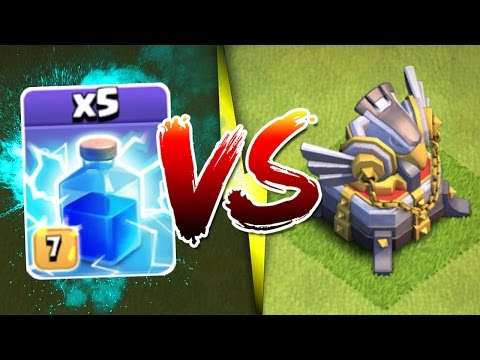 IMPOSSIBLE? OR NOT!? - Clash Of Clans - EAGLE ARTILLERY vs ALL MAX LIGHTNING SPELLS!!