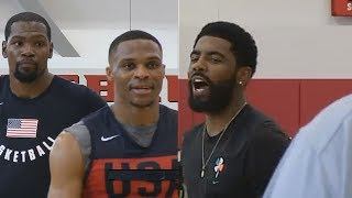Kyrie Irving Shuts Down Kevin Durant And Russell Westbrook Argument! 2018 Usa Basketball