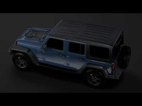 Review: 3D Model of Jeep Wrangler Unlimited Rubicon Recon JK 2017