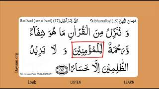 Learn Quran In English, Surah 008 Al Anfaal, word to word translation