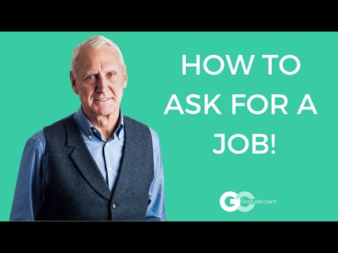 How to ask for a job