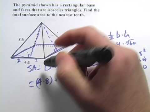 Surface Area of Rectangular Pyramids