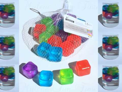 REUSABLE PLASTIC ICE CUBES (Cubes & Fruits shaped)