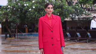 Sonam Kapoor spotted Promoting her upcoming movie Zoya's Factor At Sun N Sand