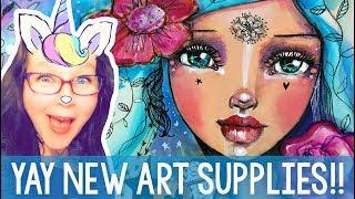 Jane Davenport Unboxing + New Art Journal Spread - Mixed Media with Tamara Laporte