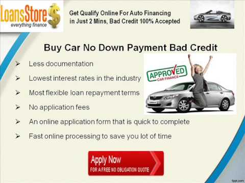 Buy Car with Bad Credit and No Money Down