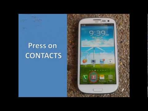 Samsung Galaxy S3: Import/Export of Contacts