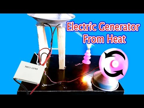 electric generator from heat using peltier module | How to make