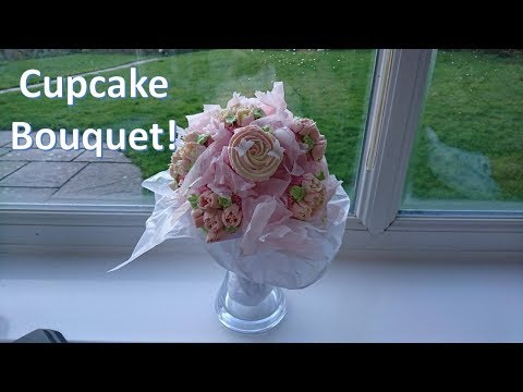 How to Make a Cupcake Bouquet - First Attempt!