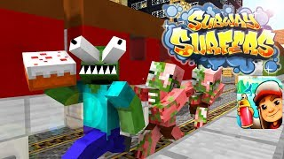 Monster School : Subway Surfers Delivery Of Cakes - Minecraft animation