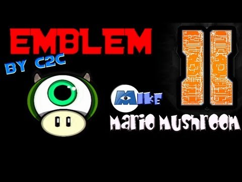 Black Ops 2 Emblem Tutorial - Monsters Inc (Mike Wazowski) Mario Mushroom!!