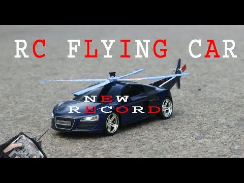 4.36 minutes make a flying car at home by a simple rc toy audi r8car