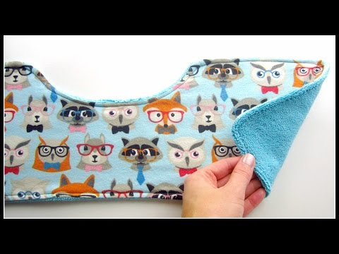 {Step-by-Step Sewing} DIY Baby Burping Cloth