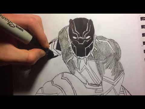 Drawing The Black Panther