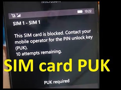 SIM Card is blocked PIN Unlock Key (PUK) required