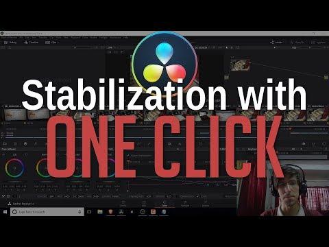 One Click Camera Stabilization   DaVinci Resolve 14 Tutorial