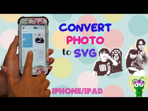 How to CONVERT Photo to SVG on your IPHONE or IPAD | IMAENGINE | Cricut Design Space 2018
