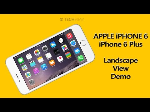 iPhone 6 / iPhone 6 Plus Landscape Mode