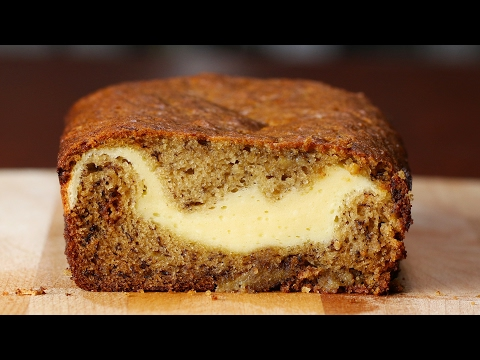 Cheesecake-Filled Banana Bread