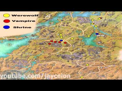 ESOTU   Bangkorai Vampire Werewolf Spawn Locations PS4 Xbox 1