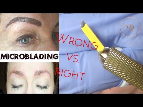 Microblading Wrong Vs. Right - Michelle Rukny