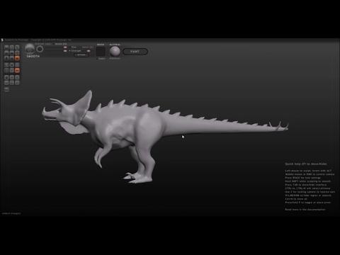 Sculptris - Making A Hybrid Dinosaur (every child's fantasy monster)