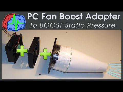 3d printing Adapter to BOOST Static Pressure PC Fan