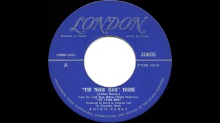 1950 HITS ARCHIVE: The Third Man Theme - Anton Karas (his original #1 version)