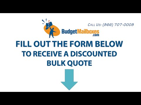 Budget Mailboxes | Assistance with Your Bulk Order Quote