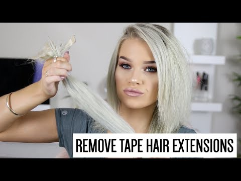 HOW TO REMOVE TAPE HAIR EXTENSIONS | Kirstie Roche