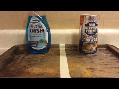 How To Clean A Cookie Sheet, Soap VS Bar Keepers Friend, Cleaning Experiment.