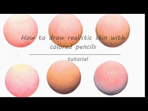 How to draw skin with colored pencils (Faber Castell Polychromos)