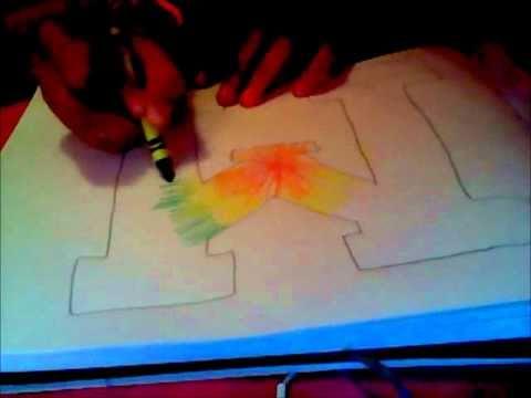 Tie-Dye Drawing.