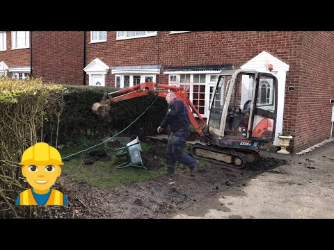 Mini Digger at Home Digging the drive  DIY at Home Part 2 Timelapse Video
