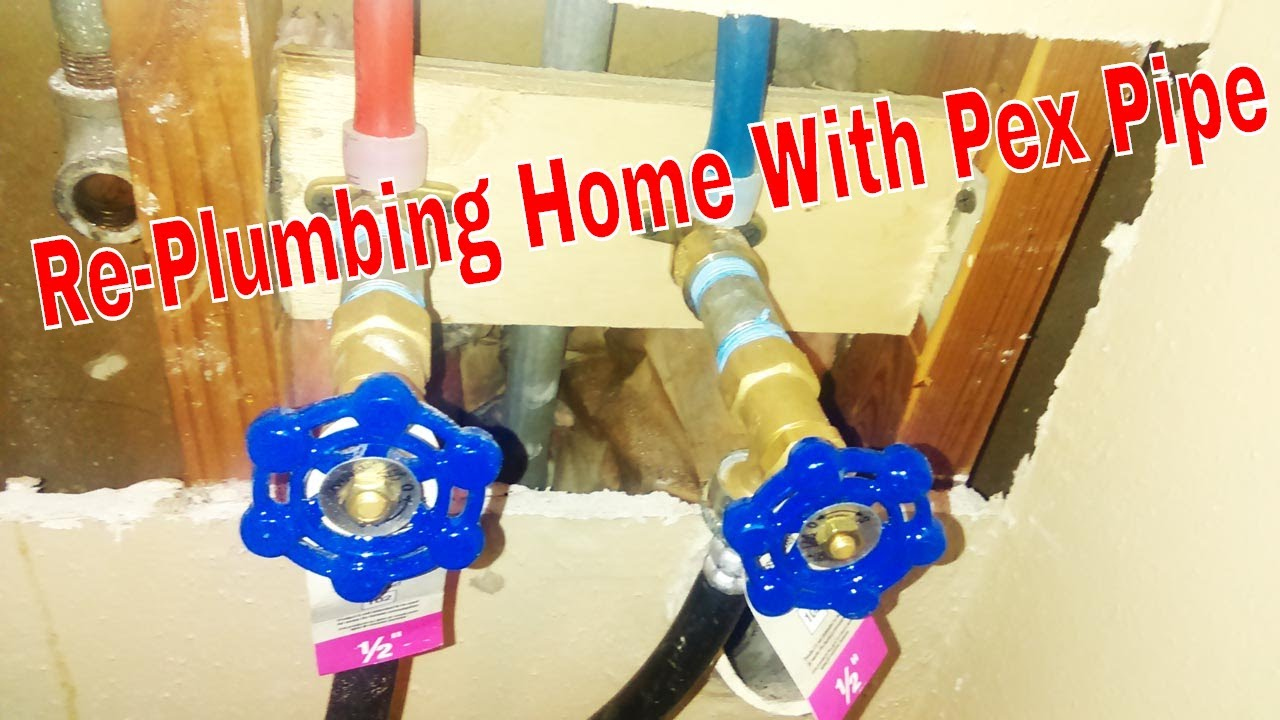 Re-Plumbing Home With Pex Pipe ( Complete Video )