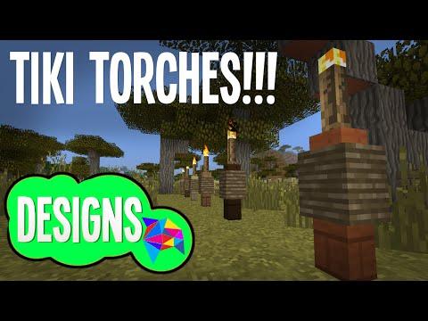 MINECRAFT TIKI TORCHES TUTORIAL!!!