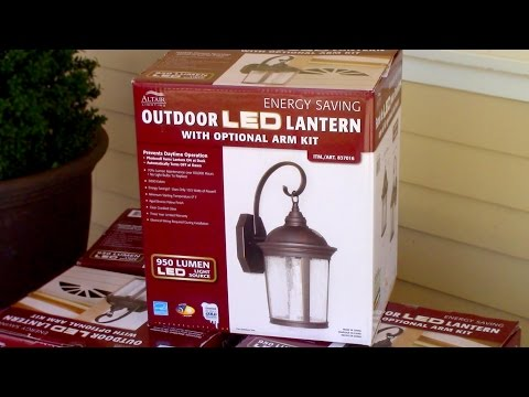How to install Outdoor Light Fixture - Costco's Outdoor LED porch Lantern Altair 917884