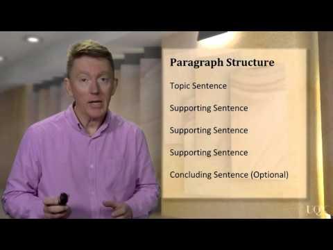 Writing: Unit 3: Paragraph Structure