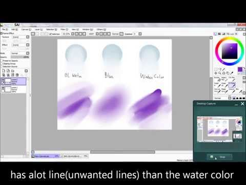 Paint tool sai: How to use the blending tools: Water color, blur and Ol water tools