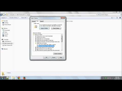 How to Unhide the hidden files Infected by virus
