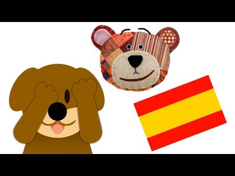 Riddle for Kids to Learn the Animals in Spanish - Guess who is hiding