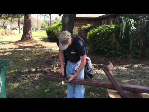 Cutting the downspout