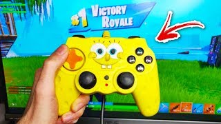 I CHEATED Using KIDS CONTROLLERS on Fortnite