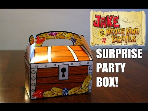 Jake and the Neverland Pirates Party Surprise Box Unboxing