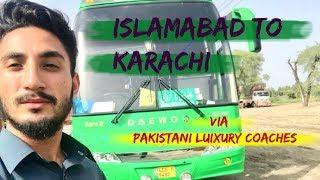 Travelogue: Islamabad TO Karachi via Pakistani Luxury Bus | Kainat Travels