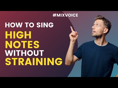 How to sing high notes without straining - MIX Voice - Singing Lesson #1 (English)