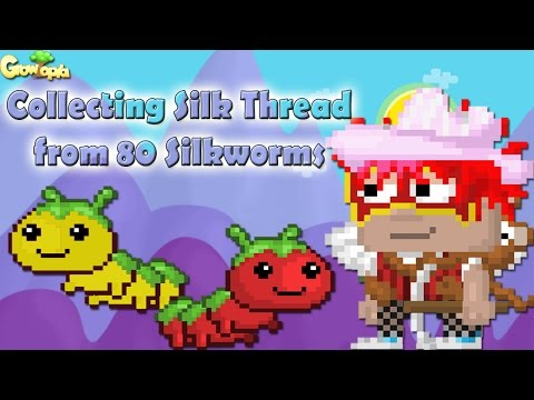 Growtopia | Collecting Silk Thread from 80 Silkworms